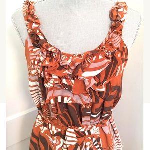 Anthropologie parameter silk 70s style dress RARE